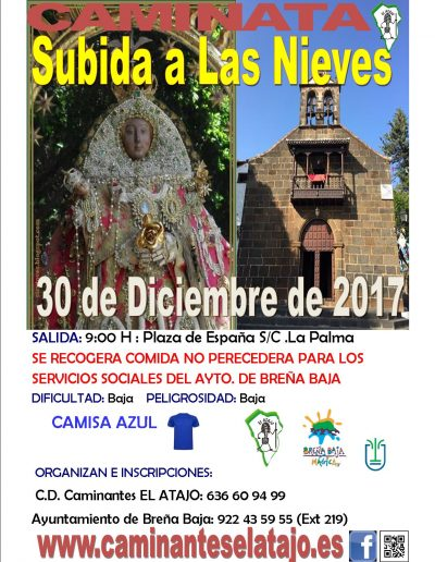 CartelSubida Las Nieves 17